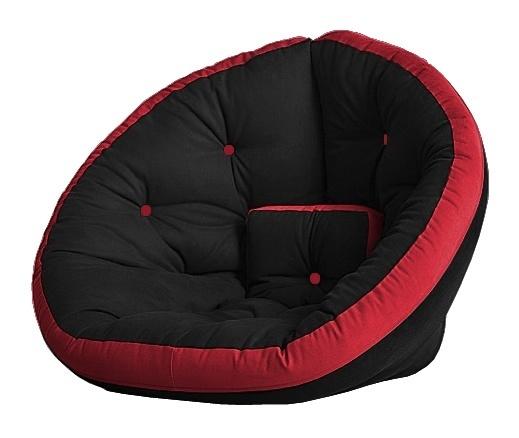 Универсальные кресла Кресло Farla Lounge Чёрное с красным bl_red_red.jpg