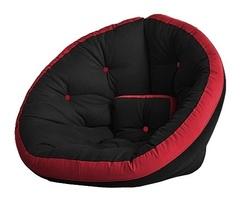 Кресло Farla Lounge Чёрное с красным