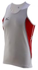 Майка Mizuno Team Running Singlet белая с красным