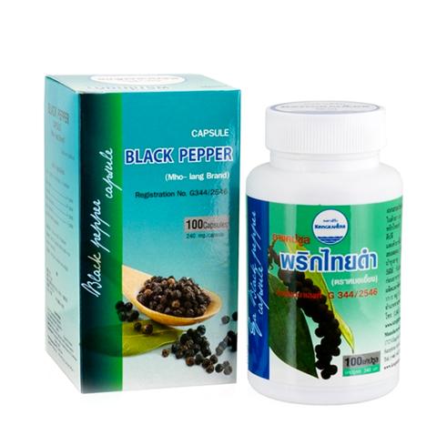 Тайские капсулы для похудения с экстрактом черного перца Kongka Herbs Black Pepper Capsules, 100 шт.