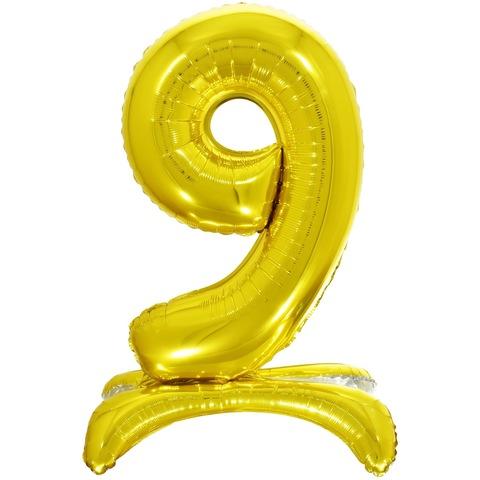 9 Цифры на подставке на пол, Золото, 81 см