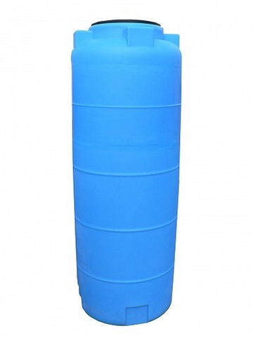 Емкость цилиндрическая 560л с фланцем и крышкой с клапанами (Синий), (750 х 1450 х 380 мм), [560ВФК2]