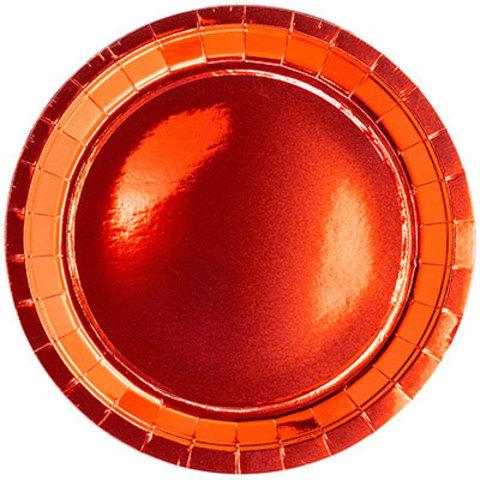 Тарелки блестящие красные 23 см