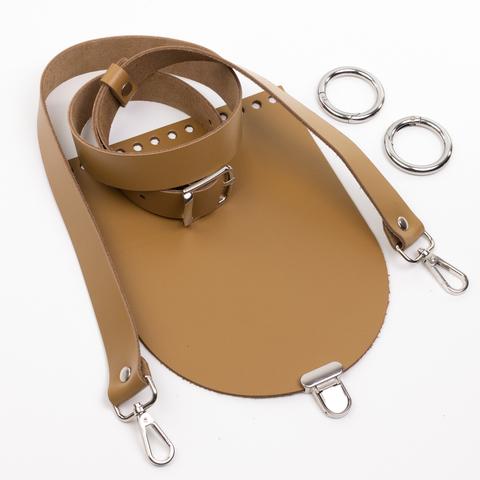 """Комплект для сумочки Орео """"Мёд"""". Ручка через плечо и замок """"Малыш"""""""