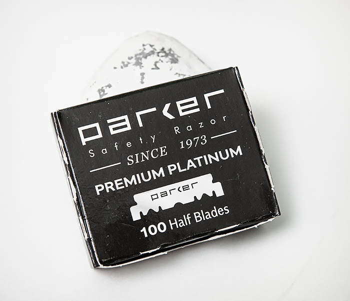 RAZ495 Лезвия для шаветки половинки «PARKER» Premium Platinum (100 шт)