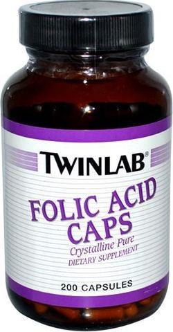 Фолиева кислота Twinlab Folic Acid Caps