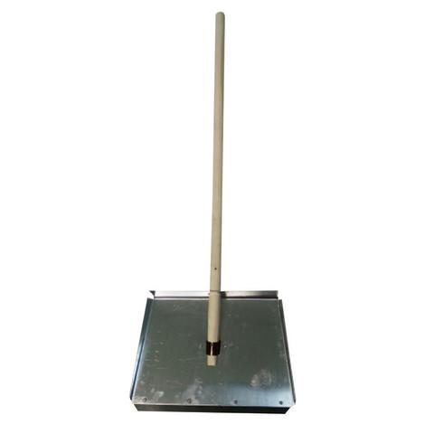 Лопата для уборки снега ковш стальной (46x30 см) с черенком