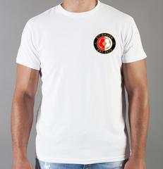 Футболка с принтом FC Feyenoord  (ФК Фейеноорд) белая 006