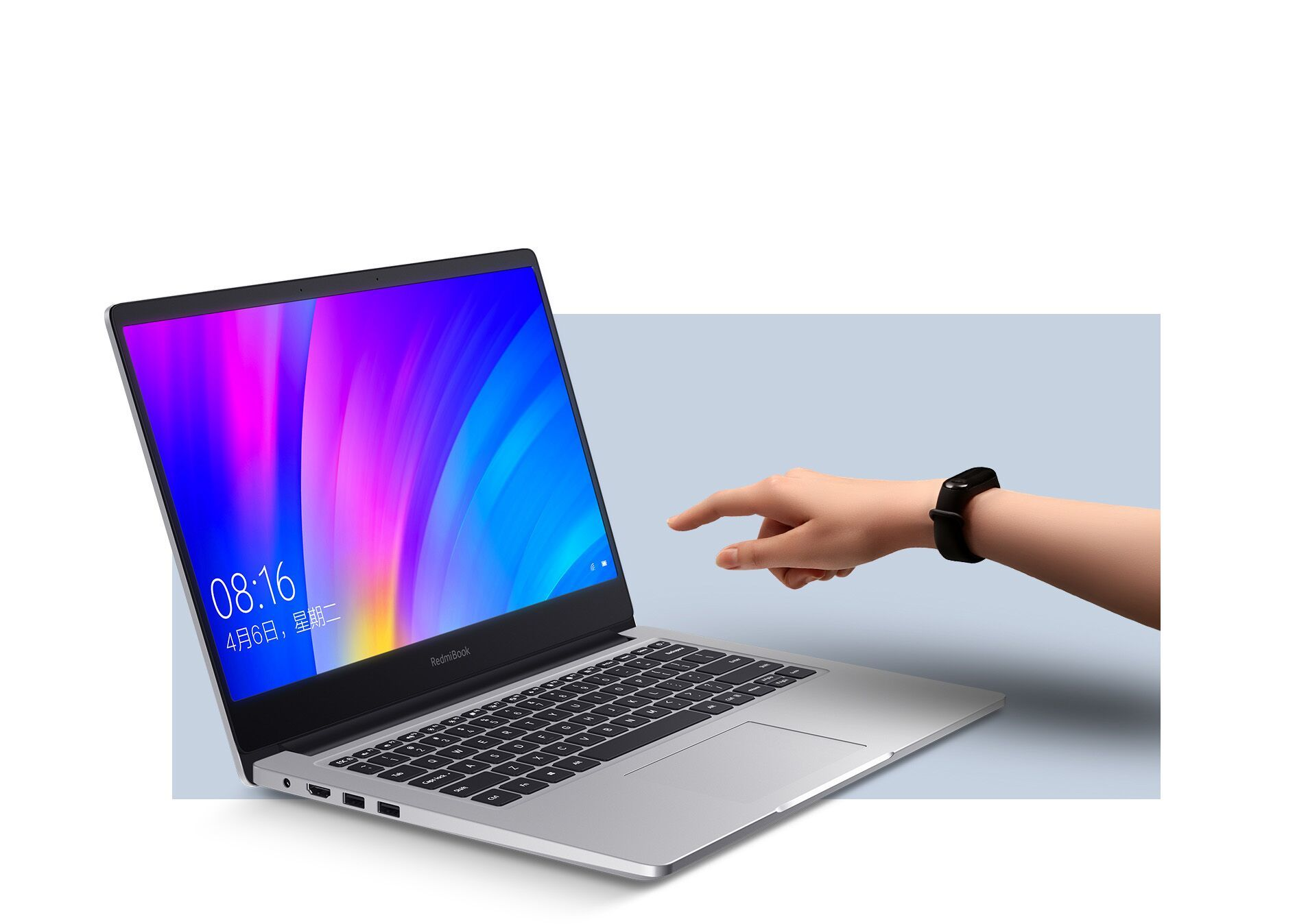 "Redmibook Ноутбук Xiaomi RedmiBook 14"" II (Intel Core i7 1065G7 1300MHz/14""/1920x1080/16GB/512GB SSD/DVD нет/NVIDIA GeForce MX350 2GB/Wi-Fi/Bluetooth/Windows 10 Home) silver 14RedmiBook8.jpg"
