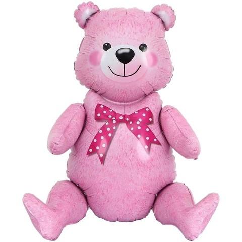 Ходячая фигура, Мишка, розовый, 81см.