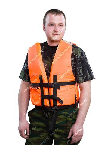 Спасательный жилет для рыбалки оранжевый