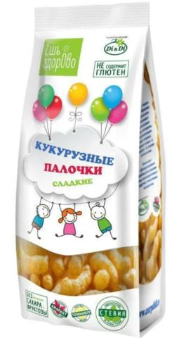 Палочки кукурузные сладкие Ешь здорово, 80 гр