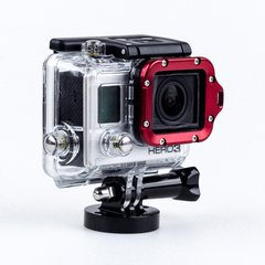 Алюминиевая рамка (Красная) для бокса GoPro 3 • 4