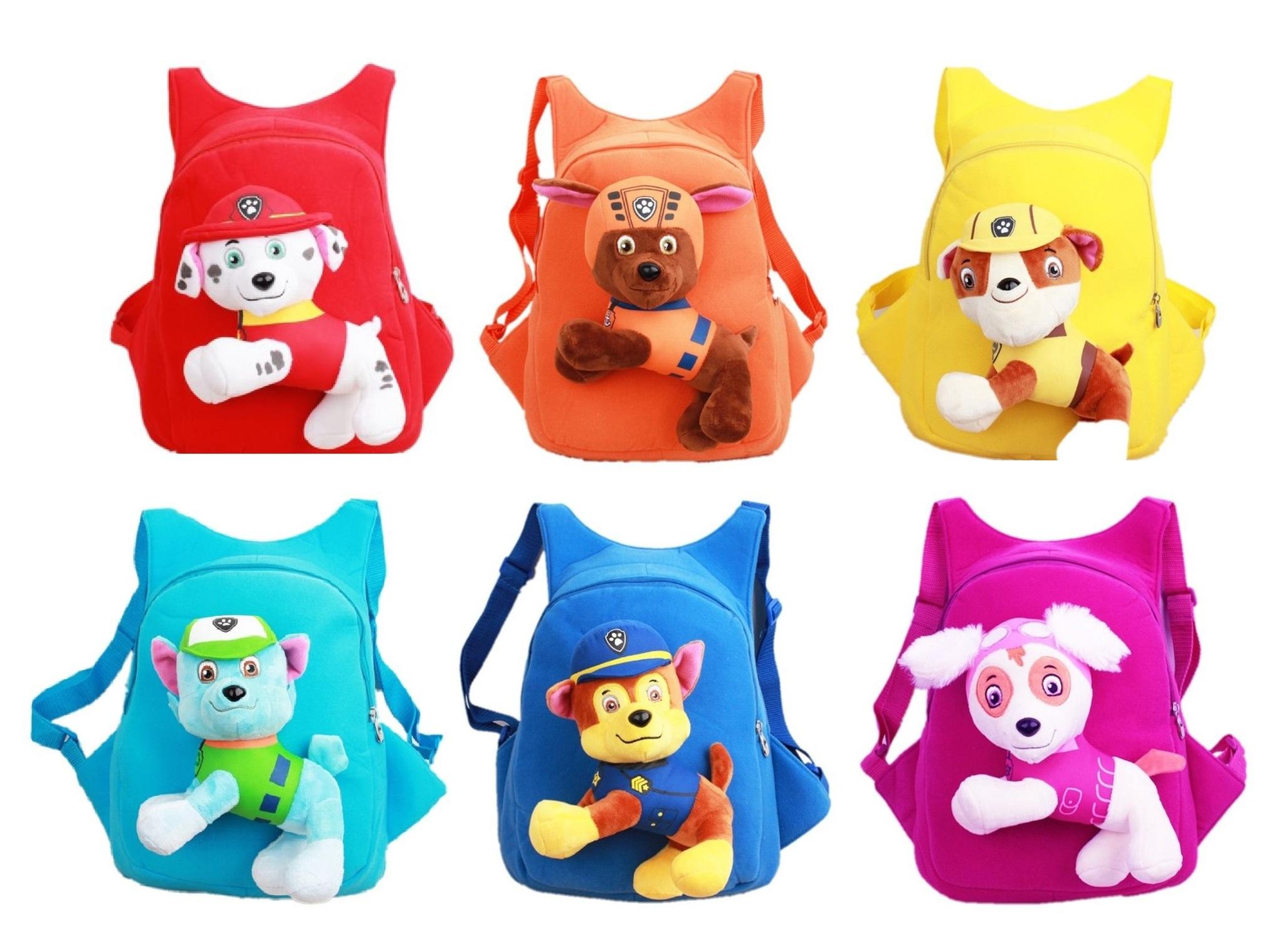 Щенячий патруль детский рюкзак с игрушкой