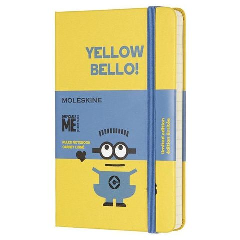 Блокнот Moleskine Limited Edition MINIONS LEMI01MM710M10 Pocket 90x140мм 192стр. линейка желтый