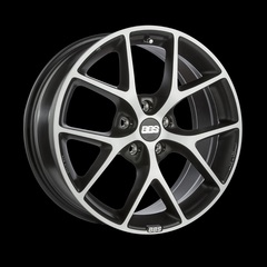 Диск колесный BBS SR 7.5x17 5x114.3 ET42 CB82.0 volcano grey/diamond cut