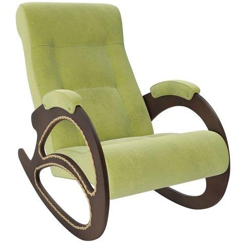 Кресло-качалка Комфорт Модель 4 орех/Verona Apple Green