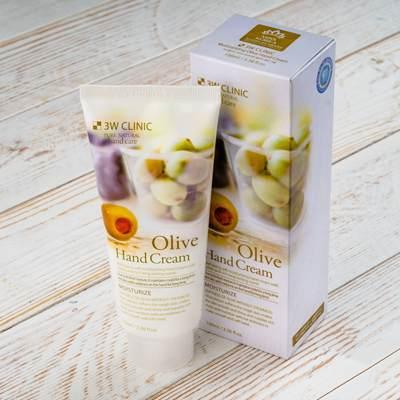 Крем для рук увлажняющий с экстрактом оливы 3W CLINIC Moisturizing Olive Hand Cream