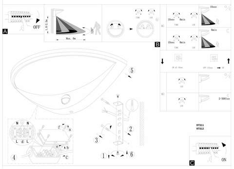 Уличный светильник с датчиком движения и с сенсором DAY & NIGHT Eglo BELCREDA 97312 3