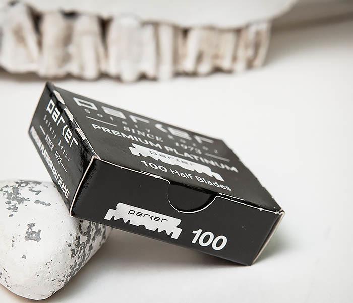 RAZ495 Лезвия для шаветки половинки «PARKER» Premium Platinum (100 шт) фото 03