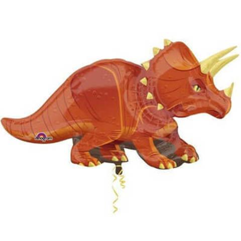 Фигура фольга Динозавр Трицератопс