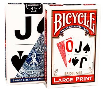 Карты Bicycle Large Print Bridge Size