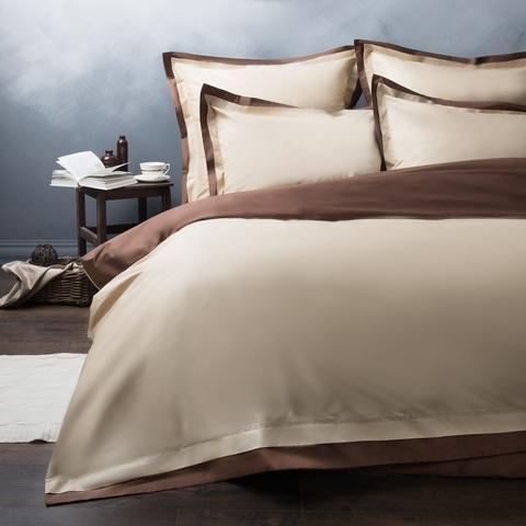 Комплект постельного белья сатин Мелба бежевый