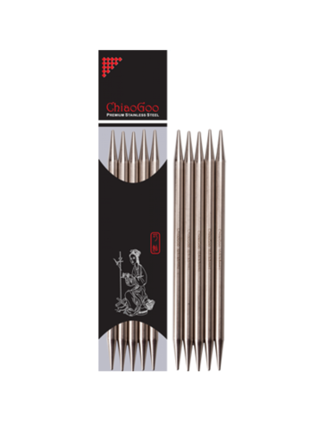 Спицы Chiaogoo чулочные  металлические 15 см 2 мм