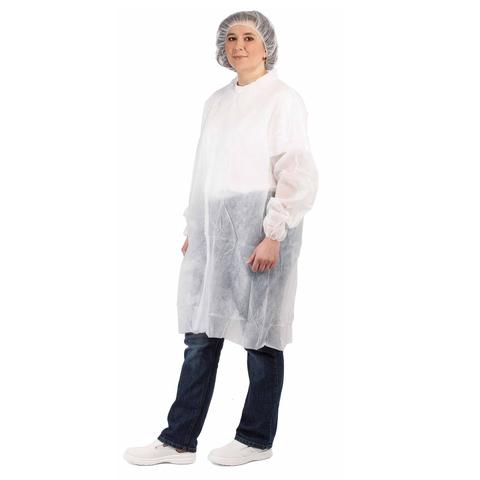 Одноразовый халат, белый