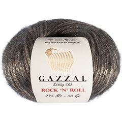 GAZZAL Rock'N'Roll  (9% шерсть мериноса, 70% Полиамид, 21% Полиакрил, 50гр/115м)