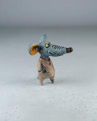 Скульптурка из шамотной глины «Деловой мышонок», 10х10 см, Falco Ceramic