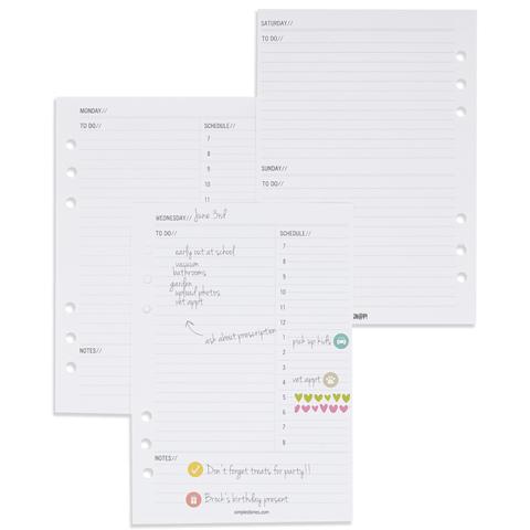 Блок ежедневных листов для планнера -A5 PLANNER