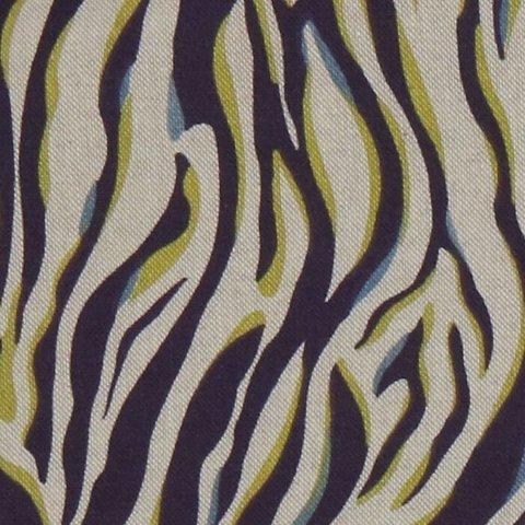 Портьерная хлопковая ткань в современном стиле Бриз синий