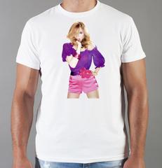 Футболка с принтом Мадонна (Madonna) белая 008