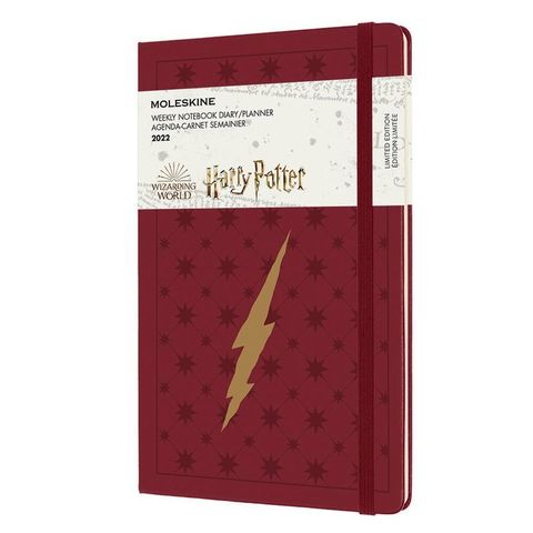 Еженедельник Moleskine (DHP12WN3Y22) LE Harry Potter WKNT Large 130х210мм 144стр. бордовый