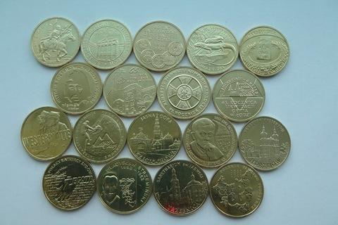 Набор из 18 монет номиналом 2 злотых. Годовой набор. 2009 год, Польша. UNC