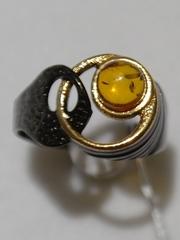 Джотта-черный (кольцо из серебра)