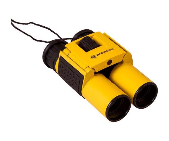 Бинокль Bresser Topas 10x25 Yellow в сложенном виде