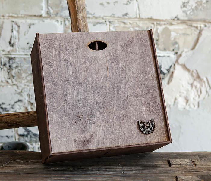 BOX235-3 Коробка для подарка с двумя отделениями (25*25*12 см) фото 02