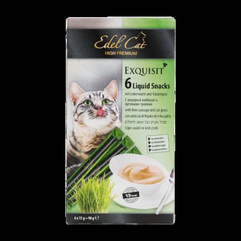 Edel Cat Лакомство для кошек крем-суп с ливерной колбасой и луговыми травами