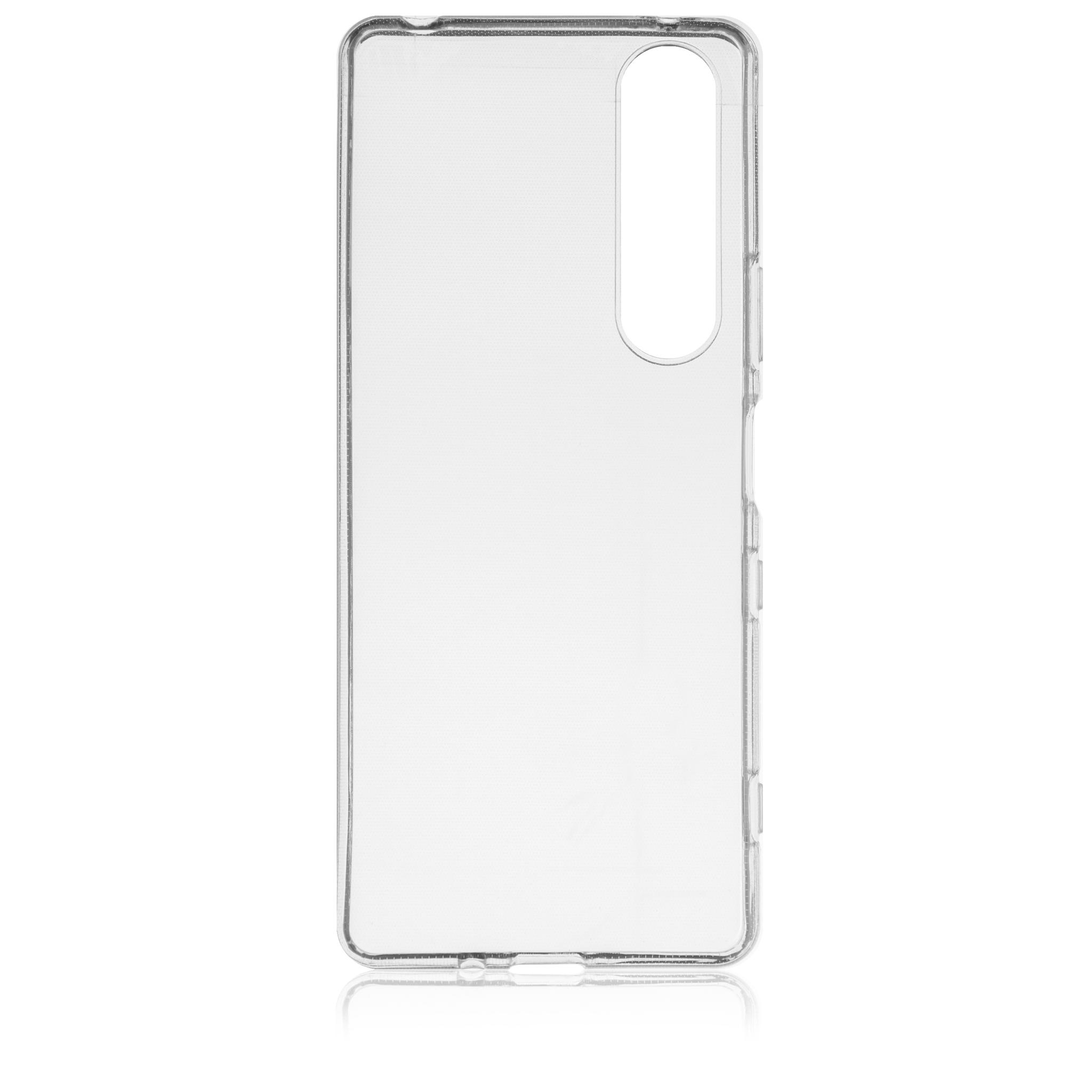 Brosco XPERIA 1 III / Накладка силикон прозрачная