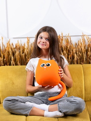 Мягкая игрушка-подушка Gekoko «Кот Огонек» 4
