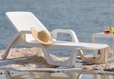 Шезлонг пластиковый Bica Nilo white