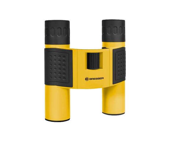 Бинокль Bresser Topas 10x25 Yellow: резиновые вставки на корпусе