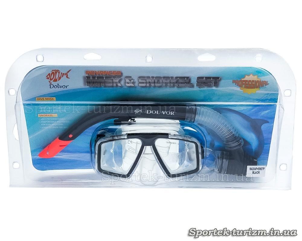 Комплект DolVor маска и трубка для подводного плавания - упаковка