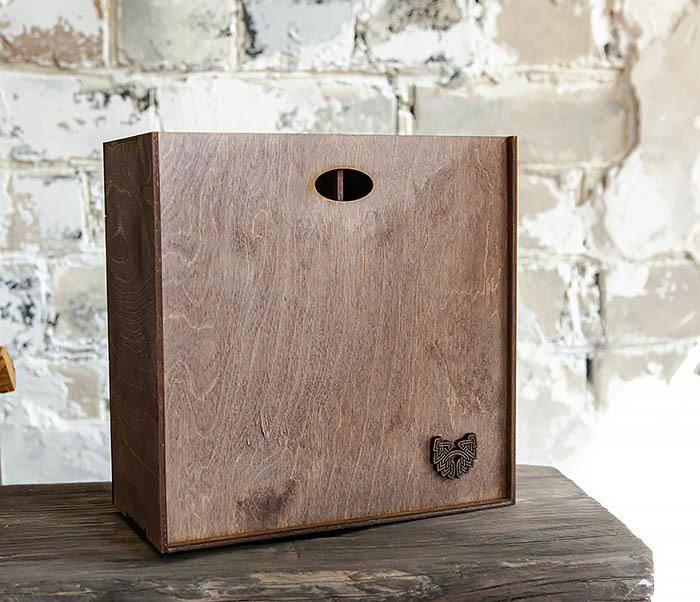 BOX235-3 Коробка для подарка с двумя отделениями (25*25*12 см) фото 03