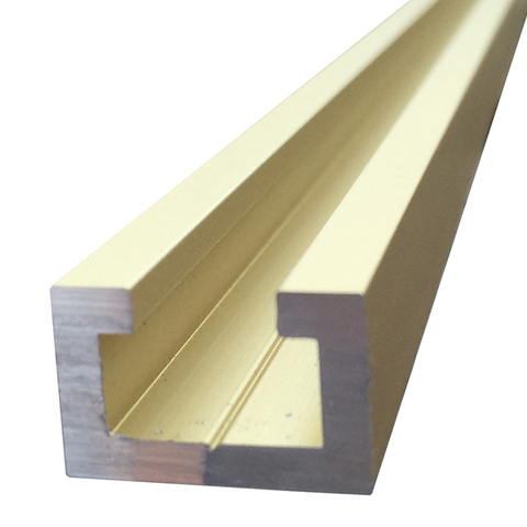 Профиль-шина 19 мм, анод, золото матовое, 1 м