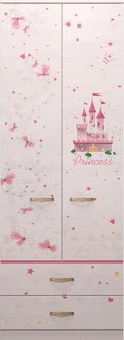 Шкаф для одежды Принцесса 20 с ящиками Ижмебель лиственница сибио