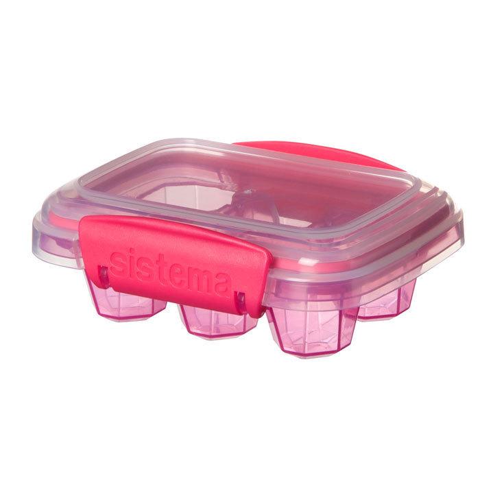 """Форма для льда Sistema """"KLIP IT"""" 6 ячеек, цвет Розовый"""