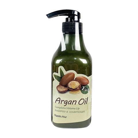 Шампунь-кондиционер с маслом арганы FARMSTAY Argan Oil Complete Volume Up Shampoo & Conditioner